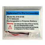 High Power Battery Kit for iPod 3rd Generation